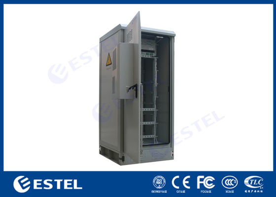 Sandwich Structure Temperature Control Outdoor Telecom Cabinet 40U 19""